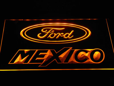 Ford Mexico LED Neon Sign - Yellow - SafeSpecial