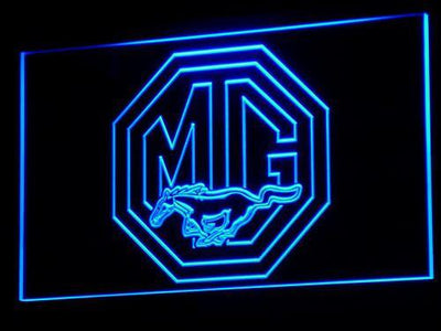 Ford MG Mustang LED Neon Sign - Blue - SafeSpecial