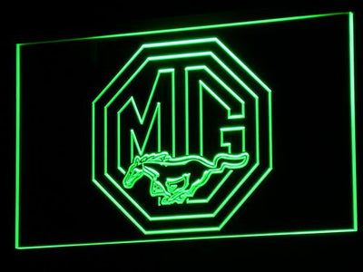 Ford MG Mustang LED Neon Sign - Green - SafeSpecial