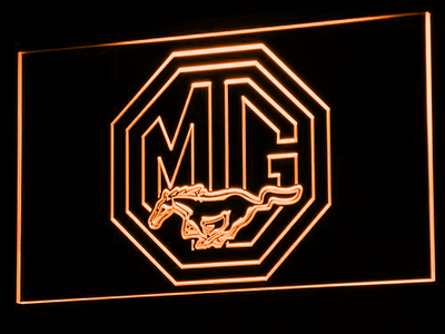 Ford MG Mustang LED Neon Sign - Orange - SafeSpecial