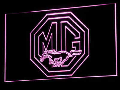 Ford MG Mustang LED Neon Sign - Purple - SafeSpecial