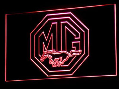 Ford MG Mustang LED Neon Sign - Red - SafeSpecial