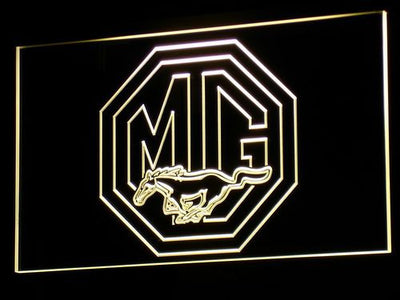 Ford MG Mustang LED Neon Sign - Yellow - SafeSpecial
