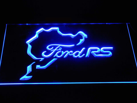 Image of Ford RS LED Neon Sign - Blue - SafeSpecial