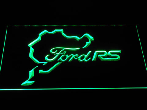 Image of Ford RS LED Neon Sign - Green - SafeSpecial
