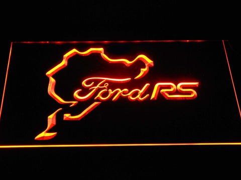 Image of Ford RS LED Neon Sign - Orange - SafeSpecial