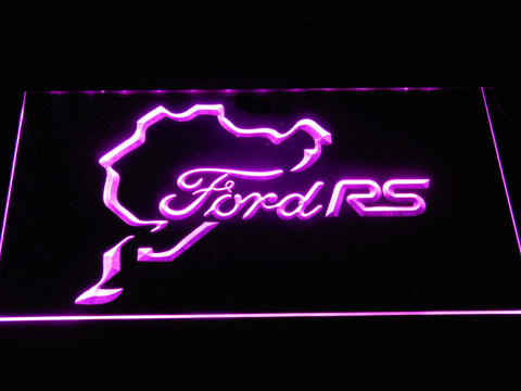 Image of Ford RS LED Neon Sign - Purple - SafeSpecial