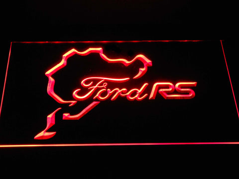 Image of Ford RS LED Neon Sign - Red - SafeSpecial