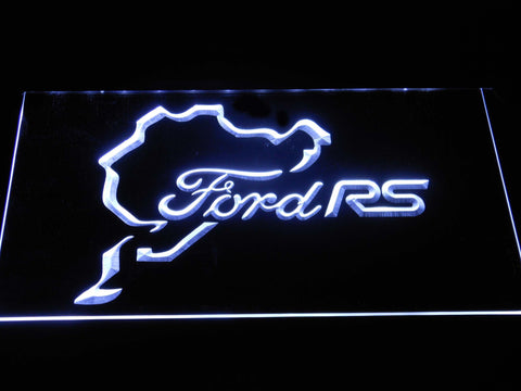 Image of Ford RS LED Neon Sign - White - SafeSpecial
