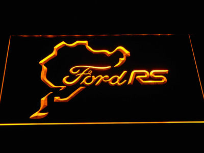 Ford RS LED Neon Sign - Yellow - SafeSpecial