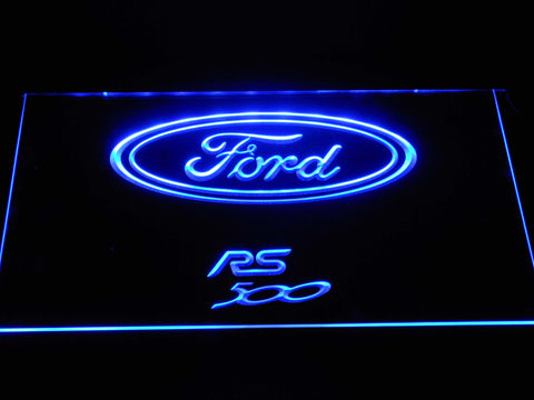 Image of Ford RS500 LED Neon Sign - Blue - SafeSpecial