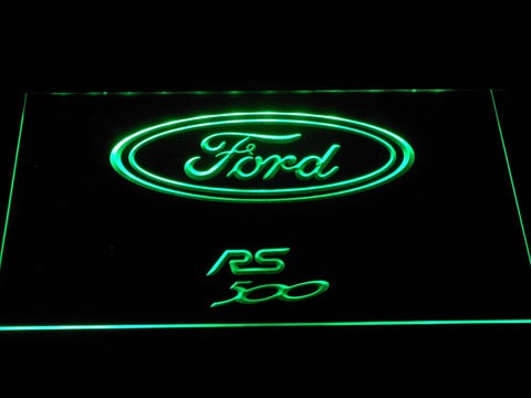 Image of Ford RS500 LED Neon Sign - Green - SafeSpecial