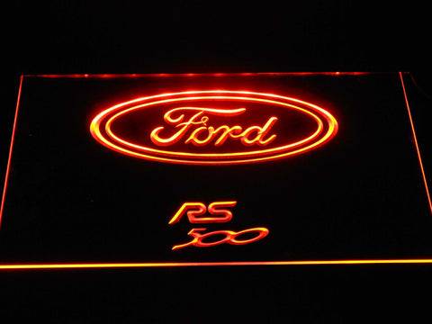 Image of Ford RS500 LED Neon Sign - Orange - SafeSpecial