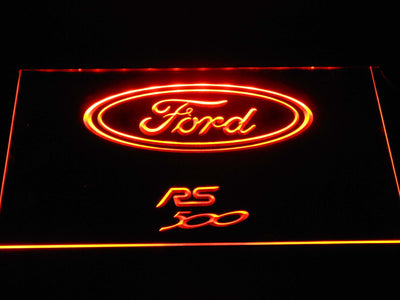 Ford RS500 LED Neon Sign - Orange - SafeSpecial
