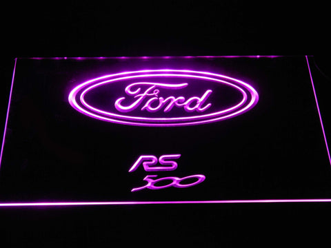 Image of Ford RS500 LED Neon Sign - Purple - SafeSpecial