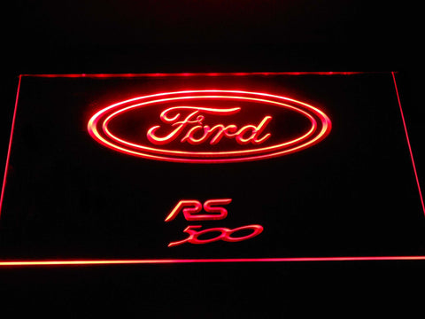 Image of Ford RS500 LED Neon Sign - Red - SafeSpecial
