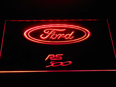 Ford RS500 LED Neon Sign - Red - SafeSpecial