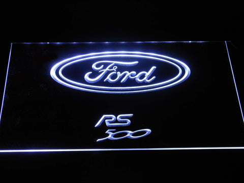 Image of Ford RS500 LED Neon Sign - White - SafeSpecial