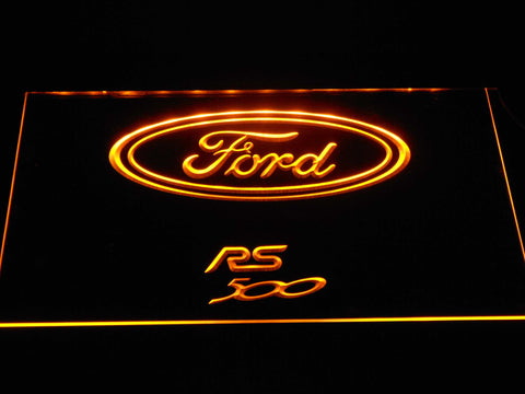 Image of Ford RS500 LED Neon Sign - Yellow - SafeSpecial