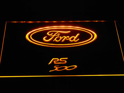 Ford RS500 LED Neon Sign - Yellow - SafeSpecial