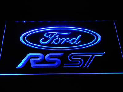 Ford RS/ST LED Neon Sign - Blue - SafeSpecial