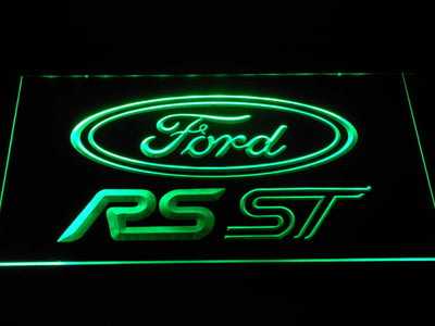 Ford RS/ST LED Neon Sign - Green - SafeSpecial