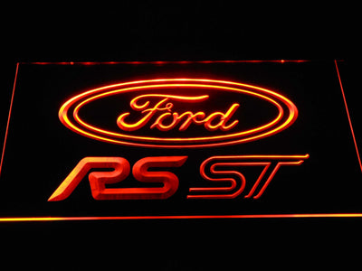 Ford RS/ST LED Neon Sign - Orange - SafeSpecial