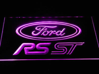 Ford RS/ST LED Neon Sign - Purple - SafeSpecial