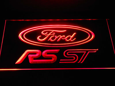 Ford RS/ST LED Neon Sign - Red - SafeSpecial