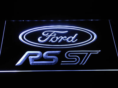 Ford RS/ST LED Neon Sign - White - SafeSpecial