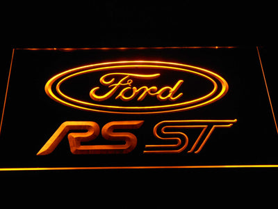 Ford RS/ST LED Neon Sign - Yellow - SafeSpecial