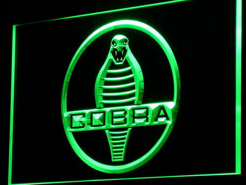 Image of Ford Shelby Cobra LED Neon Sign - Green - SafeSpecial