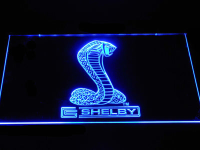 Ford Shelby LED Neon Sign - Blue - SafeSpecial