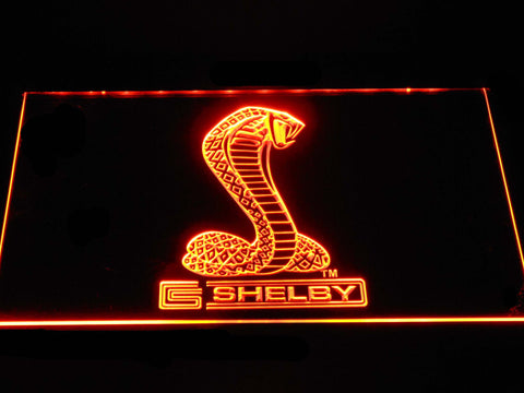 Image of Ford Shelby LED Neon Sign - Orange - SafeSpecial