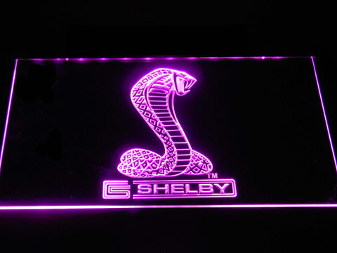 Ford Shelby LED Neon Sign - Purple - SafeSpecial