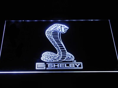 Ford Shelby LED Neon Sign - White - SafeSpecial