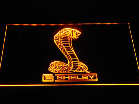Ford Shelby LED Neon Sign - Yellow - SafeSpecial