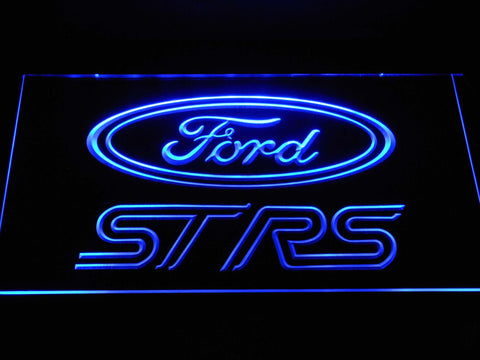 Image of Ford ST/RS Logo LED Neon Sign - Blue - SafeSpecial