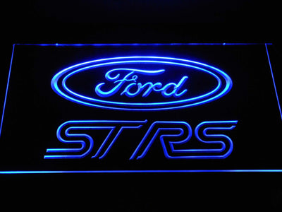 Ford ST/RS Logo LED Neon Sign - Blue - SafeSpecial