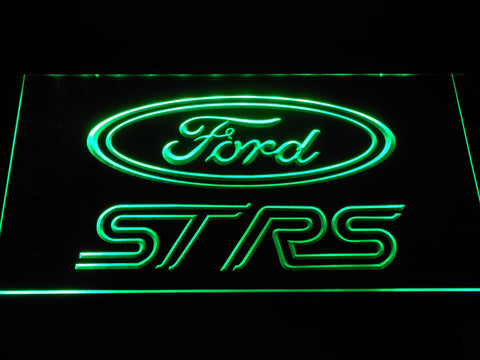 Image of Ford ST/RS Logo LED Neon Sign - Green - SafeSpecial