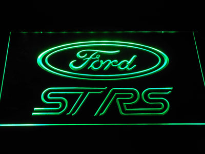 Ford ST/RS Logo LED Neon Sign - Green - SafeSpecial