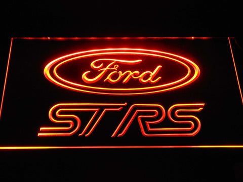 Image of Ford ST/RS Logo LED Neon Sign - Orange - SafeSpecial