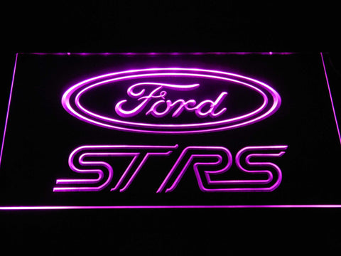 Image of Ford ST/RS Logo LED Neon Sign - Purple - SafeSpecial