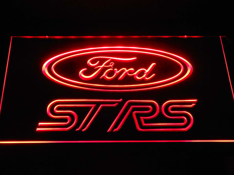 Image of Ford ST/RS Logo LED Neon Sign - Red - SafeSpecial