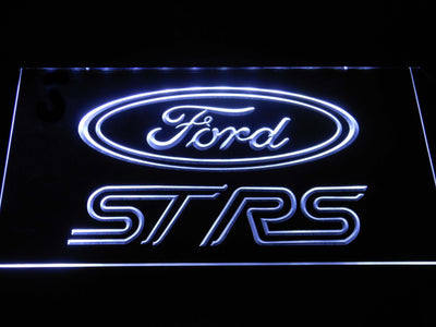 Ford ST/RS Logo LED Neon Sign - White - SafeSpecial