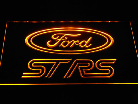 Image of Ford ST/RS Logo LED Neon Sign - Yellow - SafeSpecial