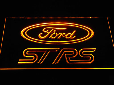 Ford ST/RS Logo LED Neon Sign - Yellow - SafeSpecial