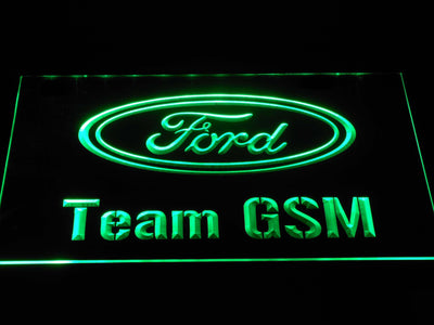 Ford Team GSM LED Neon Sign - Green - SafeSpecial