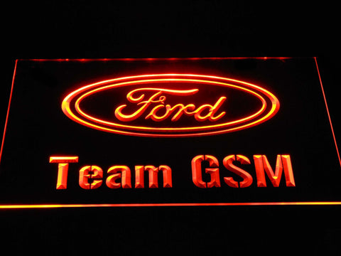 Image of Ford Team GSM LED Neon Sign - Orange - SafeSpecial