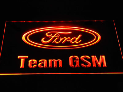 Ford Team GSM LED Neon Sign - Orange - SafeSpecial